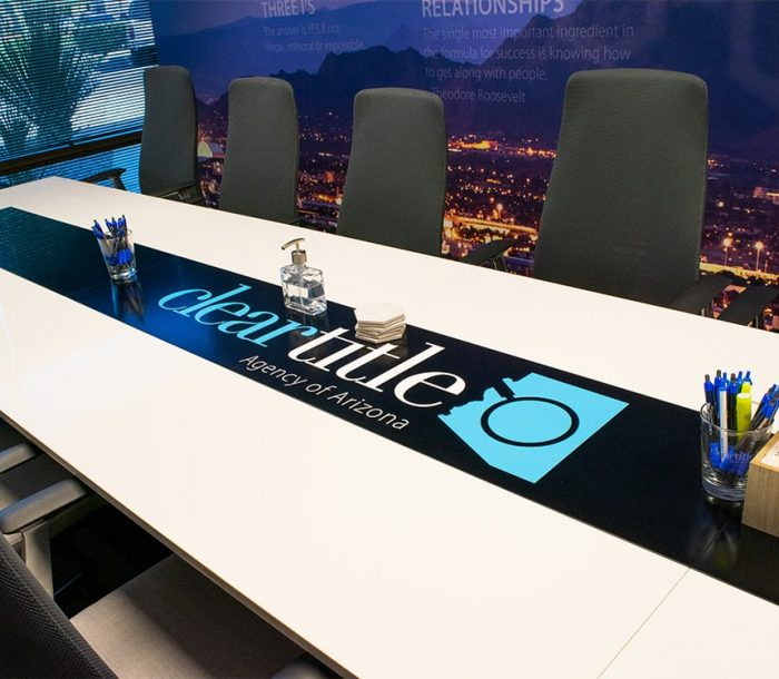 Clear Title Main large conference table