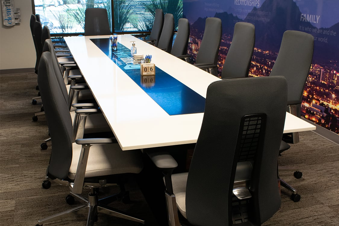 Clear Title Large Conference Table