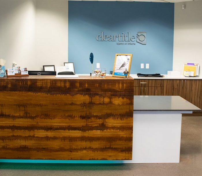 Clear Title main reception desk
