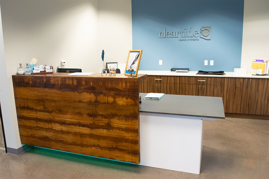 Clear Title reception desk