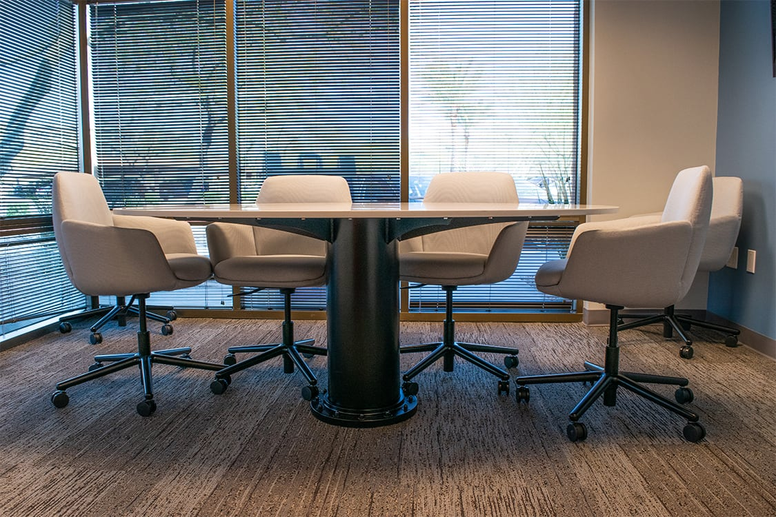 Clear Title small conference table