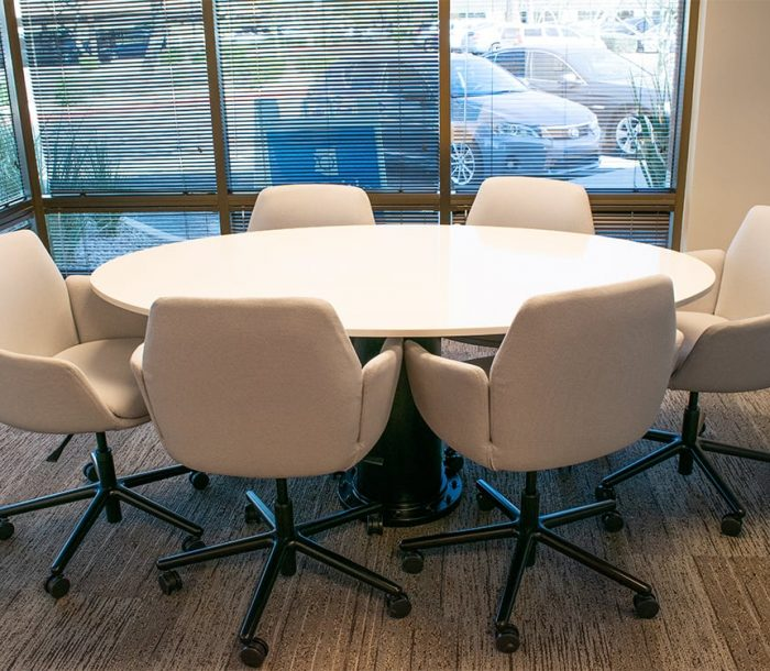 Clear Title Main small conference table
